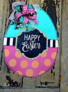 Happy Easter 3-D Easter Egg Door Hanger