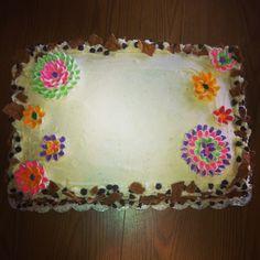 Cannoli filled sheet cake