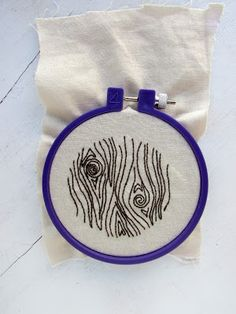 Wood Grain hand embroidery pattern. Free download!
