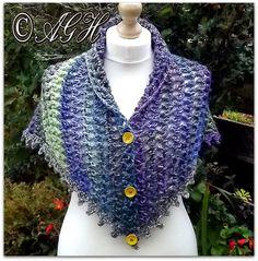 """AG Handmades: """"Dawn"""" Treble Mesh Shawl, free crochet pattern"""