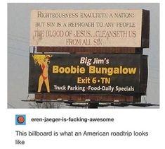 On billboards: