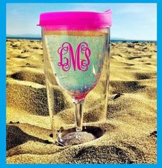 WINE SIPPY CUP for the Beach @ beverage holder