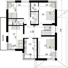 Projekt domu DN 021g 207,12 m² - koszt budowy - EXTRADOM Floor Plans, House, Claire, Projects, Home, Homes, Floor Plan Drawing, Houses, House Floor Plans