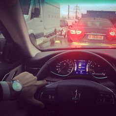 Traffic jam  Maserati Quattroporte
