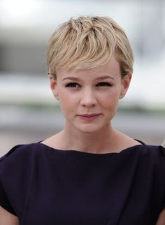 Carey Mulligan Short Side Part - Short Hairstyles Lookbook - StyleBistro