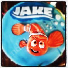 Nemo style birthday cake for jake.  Find me on Facebook - Feendish Delights