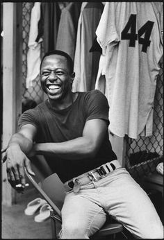 Walter Ioos. Hank Aaron. West Palm Beach, FL. 1969.