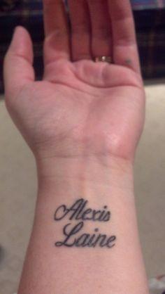 Finally Got My Kids Names Tattooed On Wrists I Love How They Turned