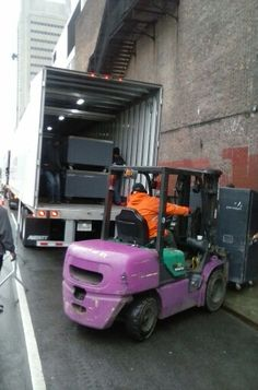Unloading at the apollo in ny.