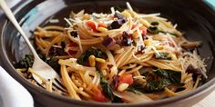 Whole-Wheat Spaghetti with Swiss Chard and Pecorino Cheese Recipes | Food Network Canada