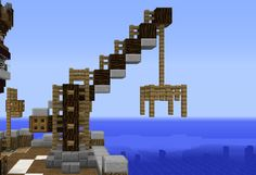 Small Harbour Crane - GrabCraft - Your number one source for MineCraft buildings, blueprints, tips, ideas, floorplans!