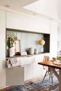mur rangements blanc bois scandinave   meuble rangement   Pinterest ...