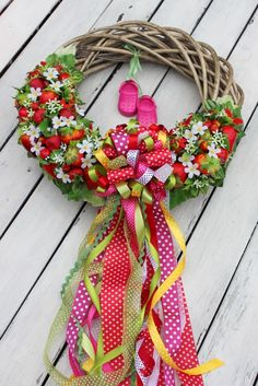 Strawberry wreath