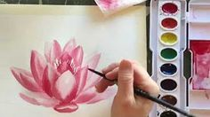 Watercolors for Beginners: How to paint POPPY FLOWERS using a straw - YouTube