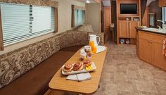 Loving the spacious interior of this pre-owned 2014 Shasta Oasis 26DB #traveltrailer