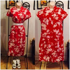 Beautiful red & white dress plus size 12 torrid Beautiful oriental style dress from torrid NWT style your way. Wear with a belt or not.  Either way it's cute 97% cotton 3% spandex torrid Dresses