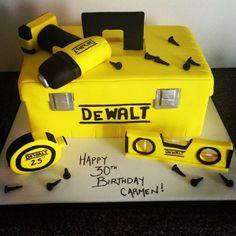 Birthday Cake For Him, 40th Birthday Cakes, Construction Theme Cake, Tool Box Cake, New Cake Design, Marvel Cake, Cake For Husband, Dad Cake, Christmas Snacks
