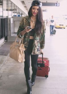 Coat: pants, jacket, kat graham, tumblr, instagram, fvkin, katerina graham, army green jacket, army green jacket, green, bag, gold, hat, jewels, jeans, denim, fashion, necklace, lion, shoes, militaire, the vampire diaries, bonny, love beautiful militaire, like, cool. hott, military style, pearl, long, airport, actress - Wheretoget