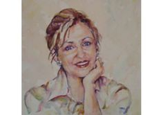 Bridal Portrait - watercolor painting - TheWeddingMile.com Watercolor Portraits, Watercolor Paintings, Newlywed Gifts, Australian Artists, Personalized Wedding Gifts, Bridal Portraits, Newlyweds, Wedding Day, Bride