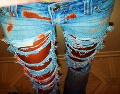 Love ripped skinny jeans