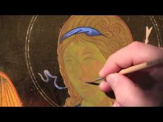 Connecting zone, Enlivening lines, and Graphic lines The series: Icons online educational paths by Father Gianluca Busi with videos by Maurizio Grandi It's a. Byzantine Icons, Byzantine Art, Painting Process, Painting Videos, Religious Icons, Religious Art, Writing Icon, 3 4 Face, Paint Icon