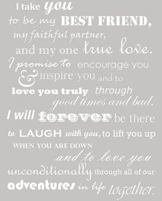 Aw I like these vows
