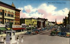 Danbury, CT - Main Street --- Publisher: Hat City Paper Co ---> I worked for Max Krazansky the owner of Hat City Paper on Lake Ave. when I was in High School (early 60's).