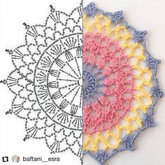 Image gallery - Her Crochet Motif Mandala Crochet, Crochet Circles, Crochet Doily Patterns, Crochet Chart, Crochet Squares, Crochet Doilies, Crochet Flowers, Crochet Designs, Crochet Doily Diagram