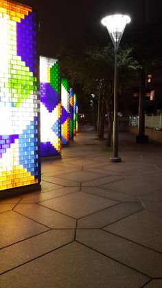 Beautiful art installation in the city centre. All stained glass.