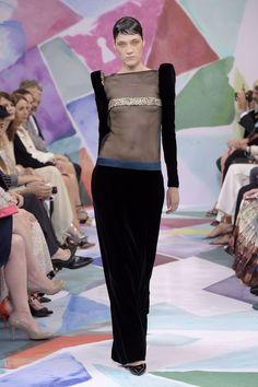 Couture Fall 2016 Trend: Velvet | Schiaparelli Couture Fall 2016 [Photo: Giovanni Gianonni]