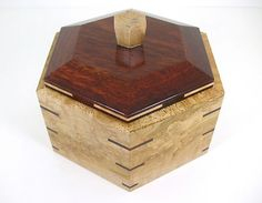 SOLD~Small Handcrafted Exotic Wood Jewelry Box