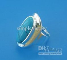 Wholesale New New 925 sterling silver turquoise ring adcg2, Free shipping, $2.72-5.56/Piece | DHgate