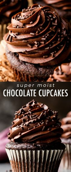The only chocolate cupcake recipe you need! Homemade, moist, rich, super chocolate flavor, and so easy to make with chocolate buttercream! Recipe on sallysbakingaddiction com is part of Chocolate cupcakes moist - Beaux Desserts, Just Desserts, Dessert Recipes, Dinner Recipes, Salad Recipes, Baking Recipes Cupcakes, Homemade Cupcake Recipes, Homemade Frosting, Avocado Recipes