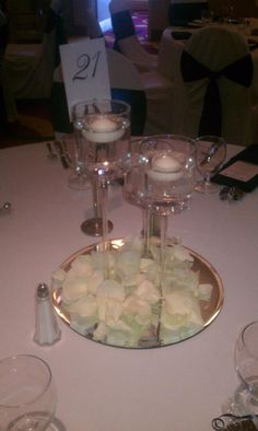 Small candle centerpieces