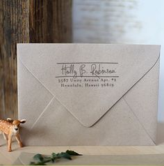 Self Inking Address Stamp  cute personal wedding by foryoo on Etsy, $29.95