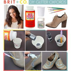 DIY Glitter Oxfords by britandco on Polyvore
