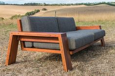 Recycled timber lounge. Bombora Custom Furniture, Torquay, Victoria.