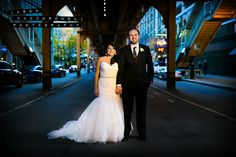 Chicago L Wedding Photo (Wells & Adams)  Jason Kaczorowski Photography © 2015