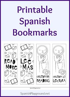 Printable Spanish Bookmarks With A Cool Style Let Everyone Know Reading Is Worth Celebrating Black
