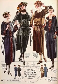 1922, As worn by the everyday woman as illustrated in Sears catalog