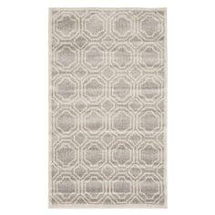 Safavieh Ferrat Indoor/Outdoor 91x152cm Rug, Light Grey & Ivory