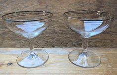 Pair Of Vintage Champagne Saucer Glasses Ideal For Cocktails Babycham Etc Champagne Saucers, Vintage Champagne, Marie Antoinette, Cocktails, Glasses, Craft Cocktails, Eyewear, Eyeglasses, Cocktail