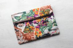 Cats Fold Over Clutch by DixieBloom on Etsy
