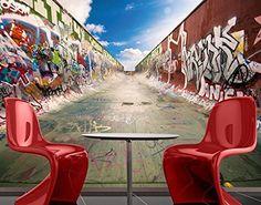 Papiertapete - Fototapete No.218 'GRAFFITI HALF PIPE' 280x200cm Skater Skates , Größe:200cm x 280cm