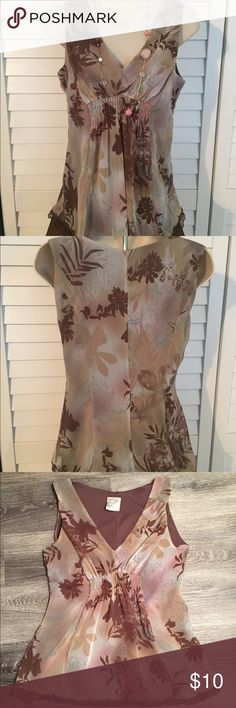 B. Moss - Tailor collection floral top Pretty floral top with lace trim in excellent condition! B. Moss Tops