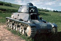 An abandoned Hotchkiss H39 tank