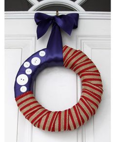 4th of july wreath craft