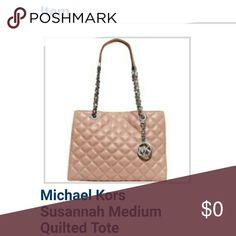 NOW AVAILABLE! Michael Kors Quilted Susannah Tote 🔥🔥🔥NEW LISTING NOW AVAILABLE🔥🔥🔥 Michael Kors Quilted Susannah chain bag in Ballet pink Gorgeous and unique quilted bag in a beautiful soft pink color with lots of fancy detailing.  BRAND NEW STILL IN ORIGINAL PACKAGING!!!   Check for same on Ⓜ for less! Michael Kors Bags Shoulder Bags