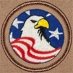 Patriotic Eagle Patrol Patch (#236)