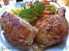 Vajas sült csirke egészben sütve Chili, French Toast, Pork, Chicken, Breakfast, Kale Stir Fry, Morning Coffee, Chile, Chilis